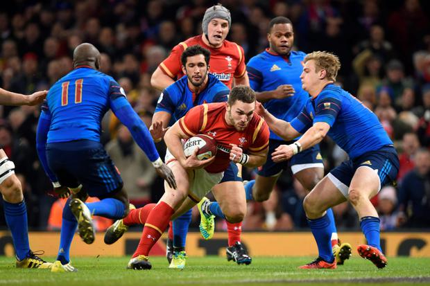 George North's touchdown. Photo: PA