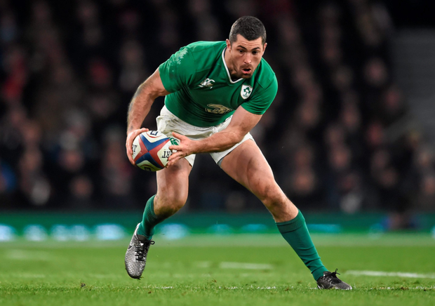 Rob Kearney has emerged as a major doubt for Saturday's Six Nations clash with Italy. Pic: Sportsfile