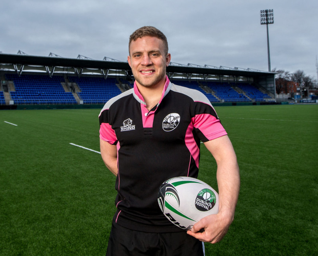 Ian Madigan at the launch of the Dublin 7s Festival, which will take place at Donnybrook Stadium on May 28, featuring 12 elite international teams. See www.dublin7sfestival.ie for details. Pic: Inpho