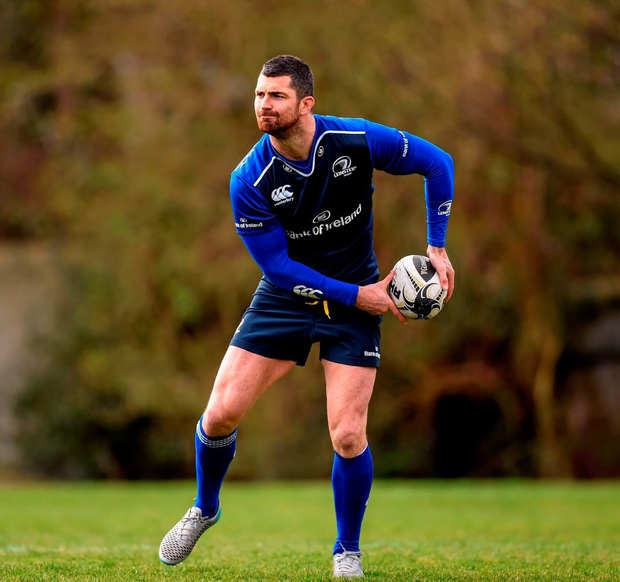 Leinster's Rob Kearney is back to boost the Blues for tonight's RDS clash against Edinburgh Photo: Sportsfile