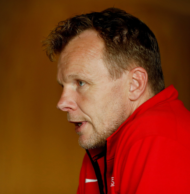 Saracens director of rugby Mark McCall during a press conference at Saracens Training Centre in St Albans, England. Photo: John Sibley/Reuters