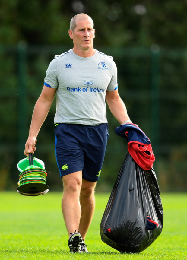 Stuart Lancaster at Leinster squad training in Belfield.