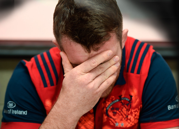 Peter O'Mahony of Munster during a press conference at the University of Limerick. Pic: Sportsfile