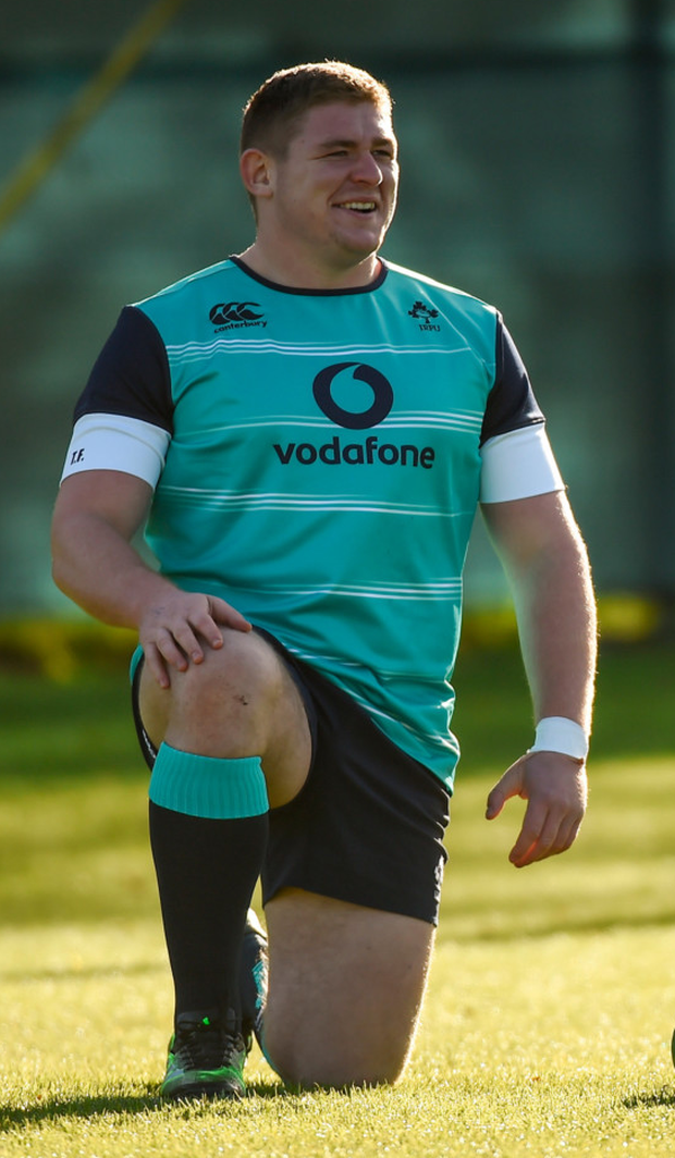 Tadhg Furlong during Ireland squad training at Carton House