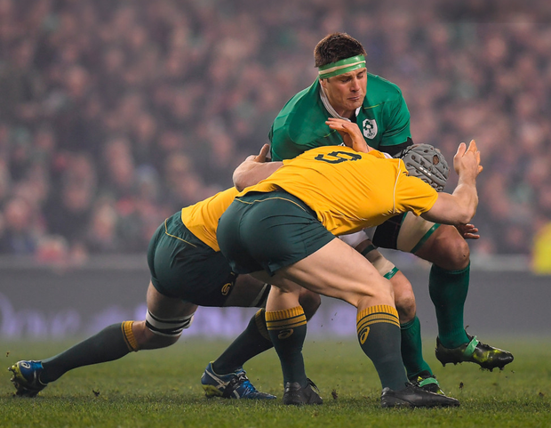 CJ Stander in action for Ireland against Australia at the Aviva Stadium last Saturday. Pic: Sportsfile