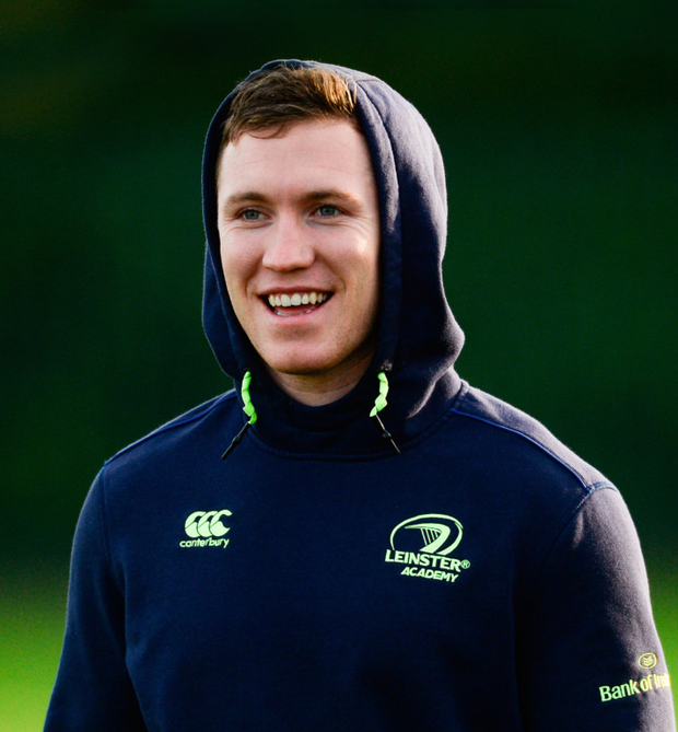 Rory O'Loughlin of Leinster in attendance at squad training
