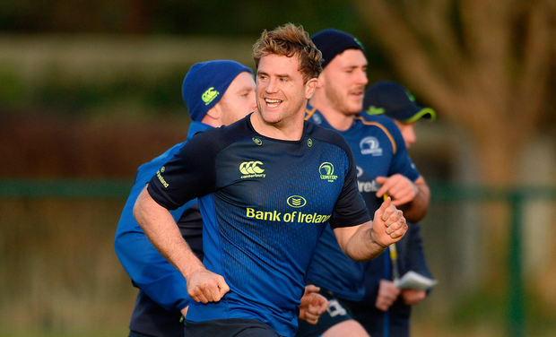 Jamie Heaslip at Leinster squad training in Belfield. Pic: Sportsfile