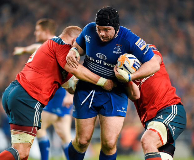 Mike Ross in action for Leinster,