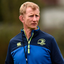 Leinster head coach Leo Cullen during squad training in Belfield