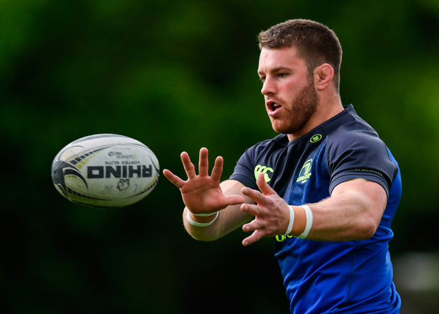 Leinster back row Seán O'Brien during squad training. Photo: Sportsfile