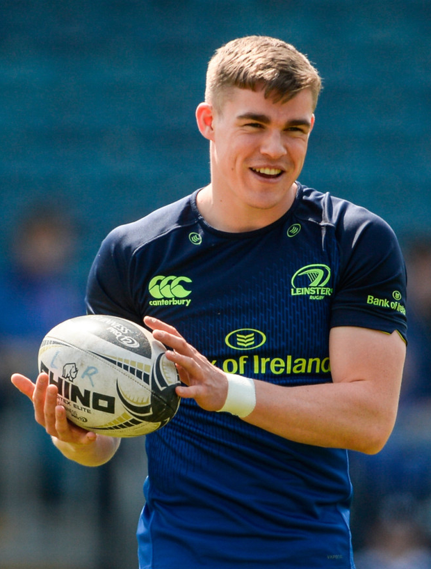 Leinster coach Stuart Lancaster wants Garry Ringrose to be more vocal on the pitch. Photo: Sportsfile