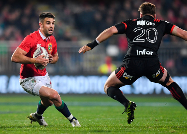 Conor Murray of the British & Irish Lions in action against Jed Brown of Crusaders. Photo: Sportsfile