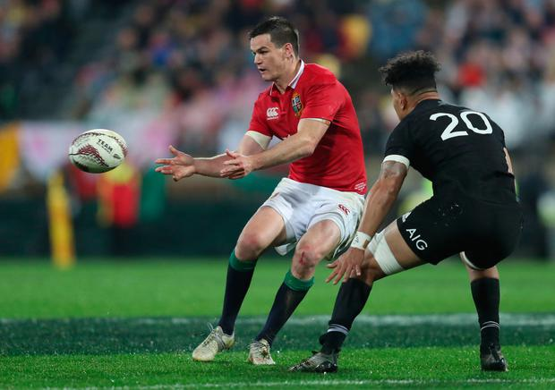 Jonathan Sexton in action for the Lions during the second test against New Zealand. Pic: PA