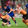 Leinster's Joey Carbery makes a break against The Cheetahs in yesterday's PRO14 Round 4 match at Toyota Stadium, Bloemfontein. Pic: Sportsfile
