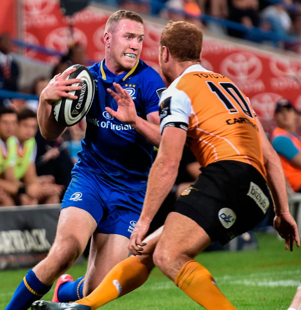 Rory O'Loughlin of Leinster in action during the Guinness PRO14 Round 4 match between Cheetahs and Leinster at Toyota Stadium in Bloemfontein.