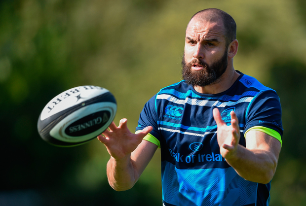 Leinster's Scott Fardy during squad training at UCD this week. Pic: Sportsfile
