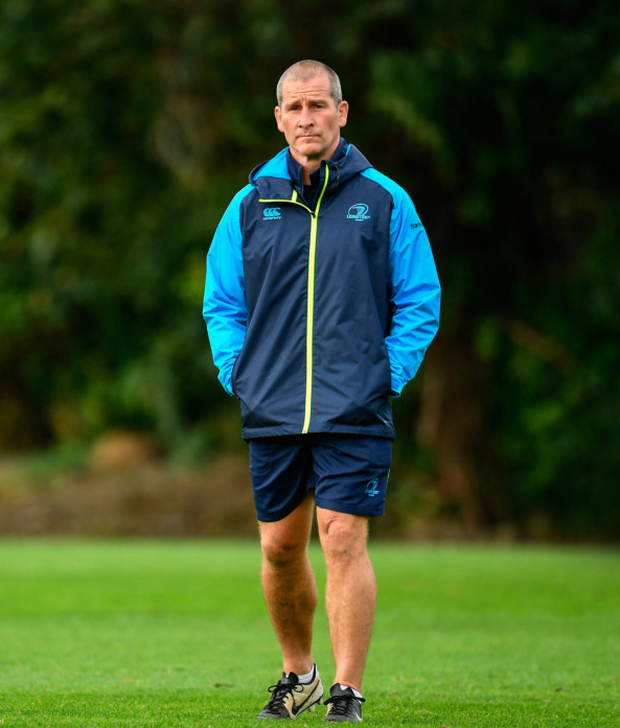 Leinster senior coach Stuart Lancaster during squad training