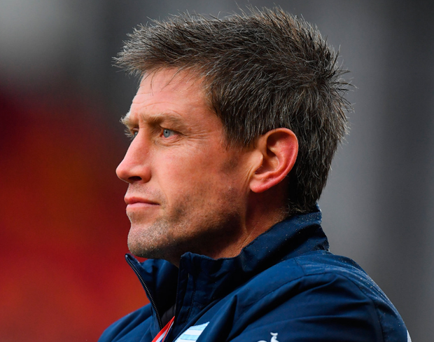 Racing 92 coach Ronan O'Gara on the sideline