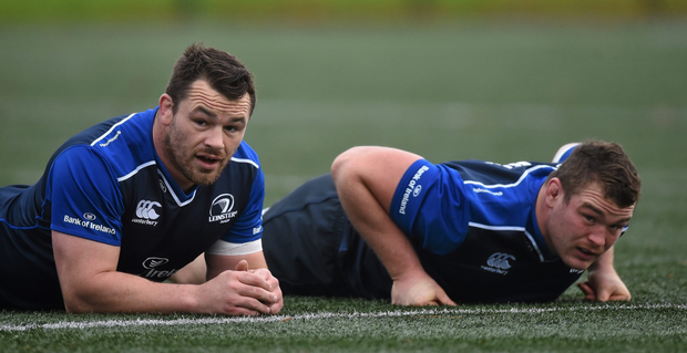 Leinster's Cian Healy (left) and Jack McGrath will go head-to-head for an Ireland starting spot. Pics: Sportsfile