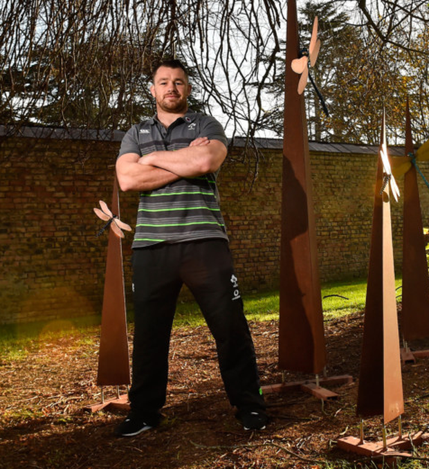 Irish prop Cian Healy at Carton House yesterday. Pics: Sportsfile
