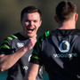 Relaxed: Jacob Stockdale (centre) Andrew Porter (left) and Garry Ringrose during Ireland squad training at Carton House in Maynooth