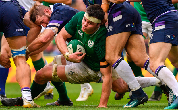 SUPERB SHOW: James Ryan in action for Ireland during the Six Nations match against Scotland at the Aviva Stadium. SPORTSFILE