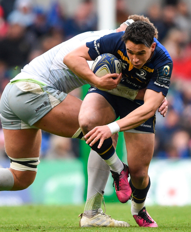 Happy to stay: Leinster's Joey Carbery is content to bide his time behind Rob Kearney and Johnny Sexton