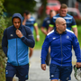 Leinster's Isa Nacewa and Richardt Strauss who will depart the club at the end of this season