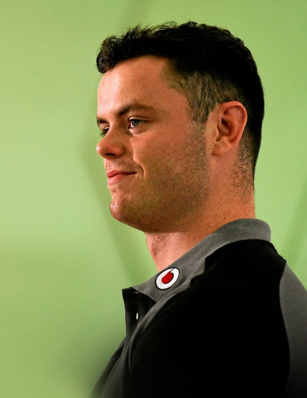 James Ryan faces the press during in Queensland Pic: Sportsfile