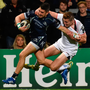 Connacht's Tiernan O'Halloran gets past Ulster's Jacob Stockdale