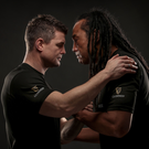 CLOSURE: Tana Umaga and Brian O'Driscoll ahead of the game between Ireland and New Zealand this Saturday. Guinness brought together former All Black Umaga and former Irish star O'Driscoll to highlight the camaraderie of the sport. Photo: INPHO/ Dan Sheridan