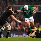 LEADING BY EXAMPLE: Ireland's Rory Best tackled by Jack Goodhue and Liam Squire during Saturday's test. Pic: Sportsfile