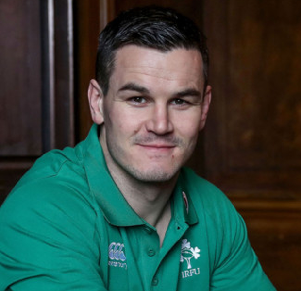 Ireland and Leinster out-half, Johnny Sexton, pictured last night after being named the Rugby Writers of Ireland Player of the Year at the annual Guinness Rugby Writers of Ireland Awards hosted at Aviva Stadium