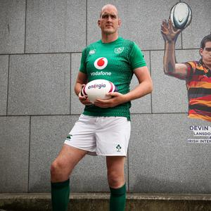Devin Toner at the announcement of leading energy supplier Energia's official partnership with the Irish Rugby Football Union