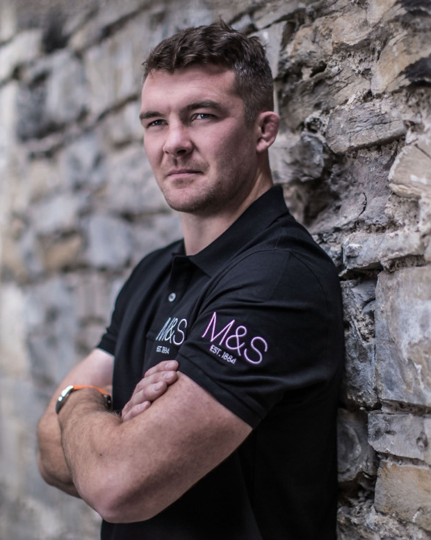 Peter O'Mahony at Marks & Spencer's announcement of a programme of initiatives to mark their 40 years in Ireland