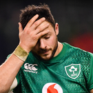 DEJECTED: Robbie Henshaw following the Guinness Six Nations defeat to England. Photo: SPORTSFILE