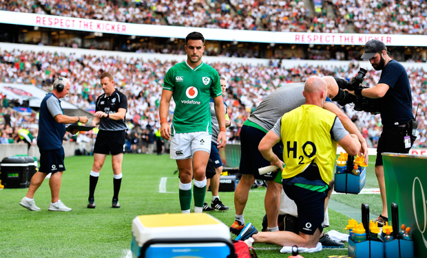 Conor Murray after his HIA. Photo: SPORTSFILE