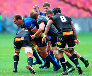 Rhys Ruddock drives forward for Leinster during the Guinness PRO14 match against Southern Kings at the Nelson Mandela Bay Stadium. Pic: Sportsfile