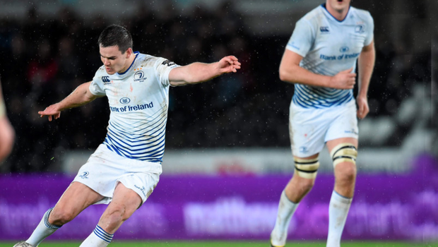 Leinster's Jonathan Sexton kicks a penalty in last Friday's PRO12 victory over Ospreys at the Liberty Stadium, Swansea. Pics: Stephen McCarthy/Sportsfile