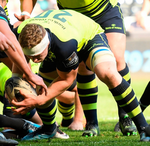Dan Leavy scores his side's second try during the Guinness PRO12 match against Ospreys last weekend