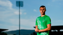 PRESSURE OFF: Shamrock Rovers' Graham Burke at Tallaght Stadium ahead of AC Milan's visit tomorrow night who will be fronted by superstar Zlatan Ibrahimovic. Photo: SPORTSFILE