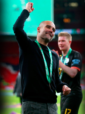Manchester City Pep Guardiola is happier with his team at present