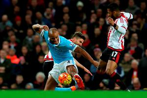 City skipper Vincent Kompany injures himself after nine minutes into his comeback Photo:Getty