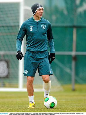 Republic of Ireland's Stephen Kelly. Picture credit: David Maher / SPORTSFILE