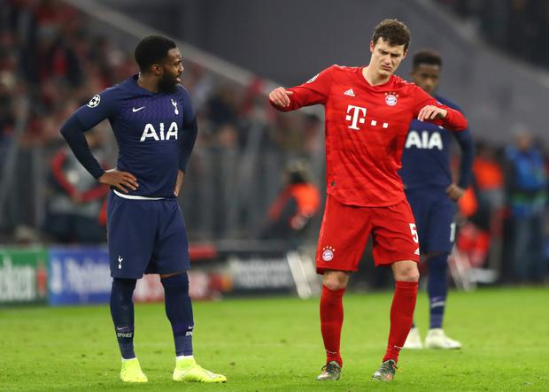 Tottenham's Danny Rose pictured during their Champions League clash with Bayern Munich. AP photo