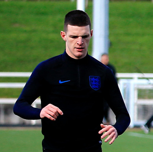 EURO TRIP: Declan Rice in training ahead of England's Euro 2020 qualifier against Montenegro tonight