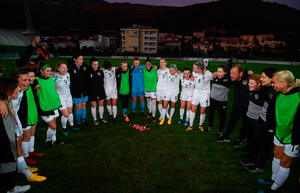 DOMINANT: Republic of Ireland players following their UEFA 2021 European Championships Qualifier victory over Montenegro at Pod Malim Brdom, Petrovac, Montenegro. Photo: Sportsfile