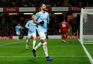 MAIN MAN: Riyad Mahrez insists Manchester City will keep their full focus on reclaiming the Premier League title. Pic: Reuters
