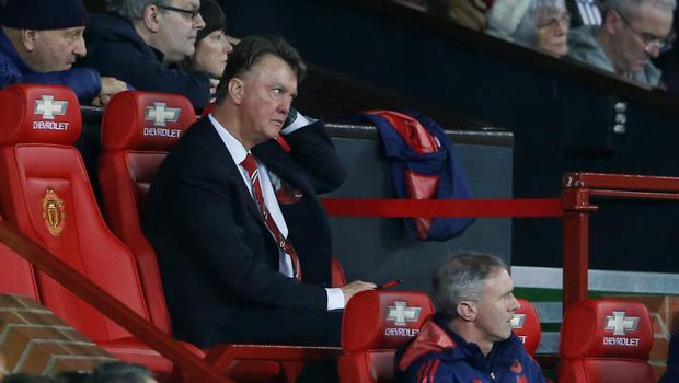 Manchester United manager Louis van Gaal is pictured during the Premier League defeat to Norwich City at Old Trafford Photo:Reuters