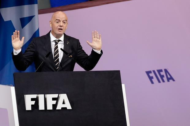 UNOPPOSED: FIFA president Gianni Infantino. Pic: AP